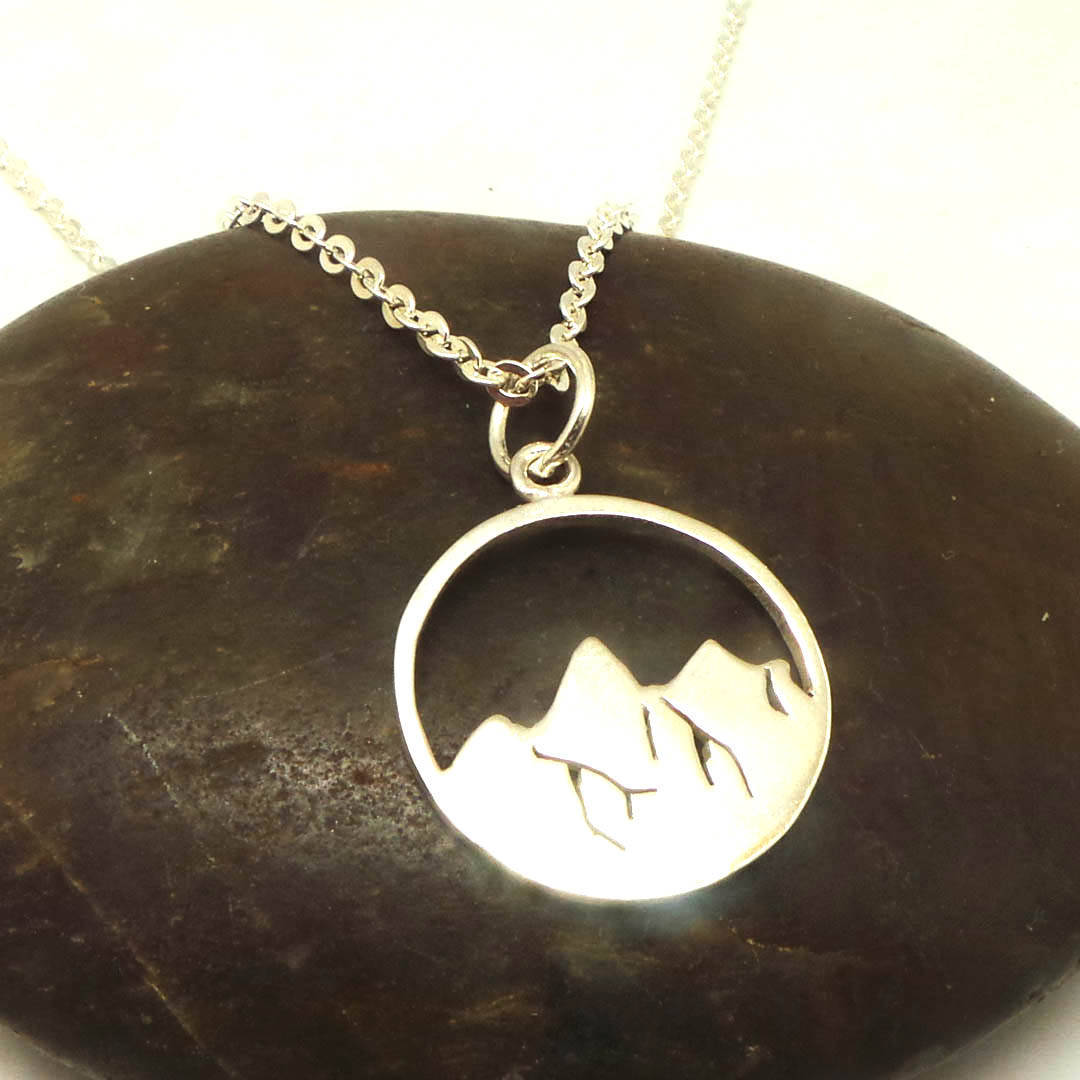 925 Sterling Silver Mountain Necklace  image 2
