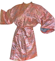 New LUSCIOUS PINK Toile Robe Woman Housecoat Bathrobe ABOVE KNEE SHORTY - ₨2,140.49 INR