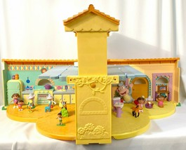 Dora The Explorer Pop-Up Talking Doll House with Various Dora Type Figures - $49.35