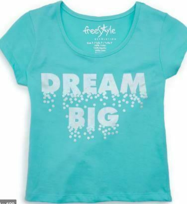Freestyle Revolution Girls' Dream Big short Sleeve Top TURQUOISE SIZE 3T SEALED