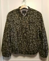 Banana Republic Wool-Blend Animal Bomber Jacket, Gray, Wool Blend, Size ... - $107.99