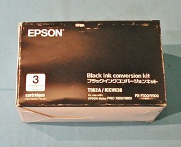 Epson Black Ink Conversion Kit Includes Cyan Yellow Magenta T562A / ICCVK38 - $9.95