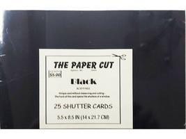 "The Paper Cut Black Blank Shutter Cards, 5.5 x 8.5"""