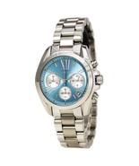 Michael Kors Women's Bradshaw Chronograph Silver Tone, Blue Dial Watch M... - £123.54 GBP