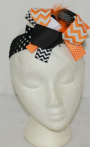 Unbranded Girl Infant Toddler Headband Removable Hair Bow Halloween Fall