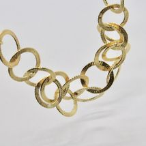 HALSBAND 925 SILBER FOLIE GOLD MIT KREISE BY MARIA IELPO MADE IN ITALY image 5