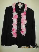 Pink Fluffy Crocheted Scarf - $10.00