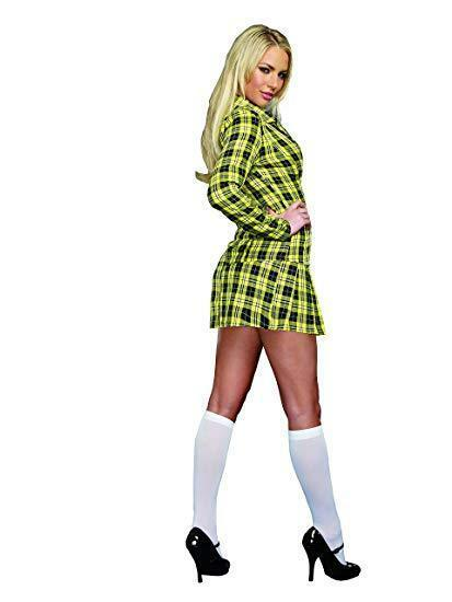 Dreamgirl Fancy School Girl Plaid Uniform Adult Womens Halloween Costume 9848