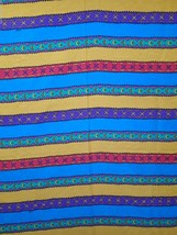 Pocahontas Twin Bed Sheet Flat Striped Brightly Colored Disney - $18.00