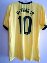 Soccer T Shirt Neymar Jr 10 Brazil World Cup Soccer Shirt One Size Fits All NWOT - $17.99