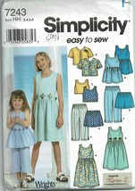 7243 UNCUT Simplicity SEWING Pattern Misses Princess Dress Design Your Own FF