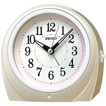 SEIKO Clock Clock Automatic Lights Alarm Clock (Pink) Round KR888P Watches - $54.73