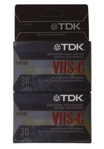 TDK High-Grade VHS-C Tape - 2 Pack - $11.44