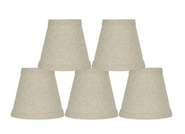 "Urbanest Set of 5 Natural Pure Linen Chandelier Lamp Shade, 3x5x4.5"", Hardback,  - $32.66"