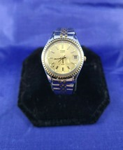 Timex womens presidential style watch silver and gold magnifying field o... - $17.99