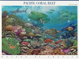 USPS Stamps Nature In America Sheet MNH Scott 3831 Pacific Coral Reef 10x37 - $9.87