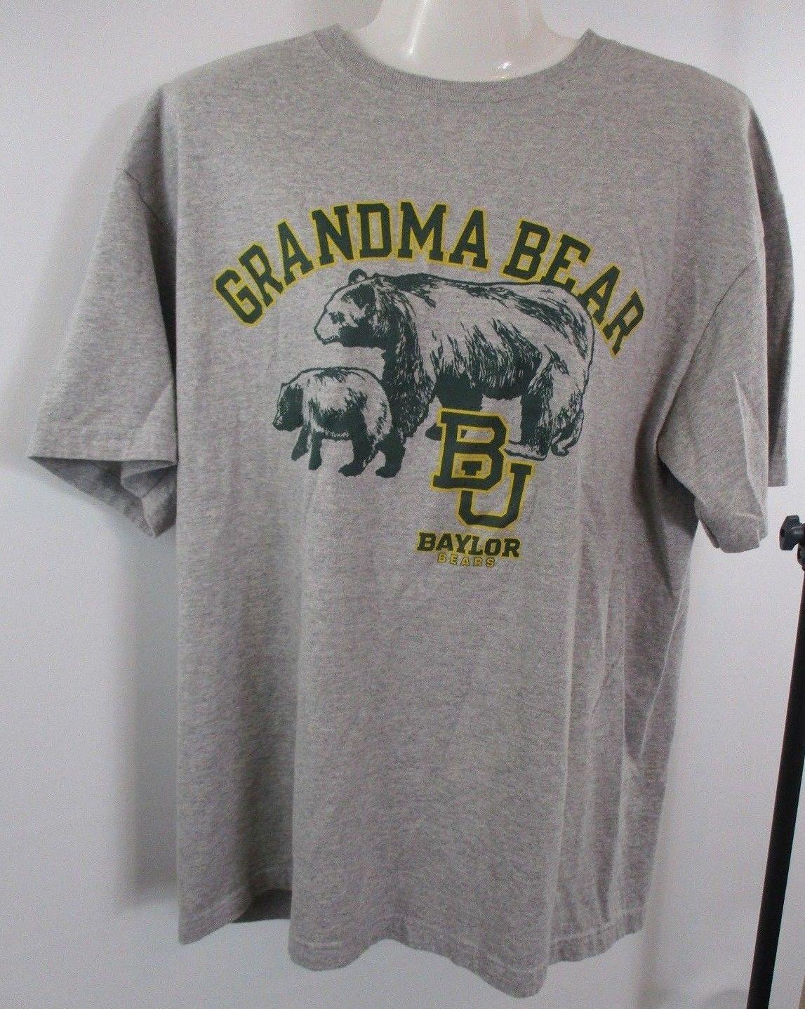 566c7ce5 S l1600. S l1600. Previous. Champion Sz L Gray BU BAYLOR UNIVERSITY Grandma  Bear Short Sleeve T Shirt Top