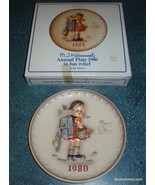 """HUMMEL GOEBEL """"School Girl"""" ANNUAL PLATE 1980 With Box Mother's Day Gift! - $16.97"""