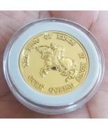 Gold Tone Sikh The King of Kings Guru Gobind Singh Ji Khalsa 1699 Token ... - $25.99