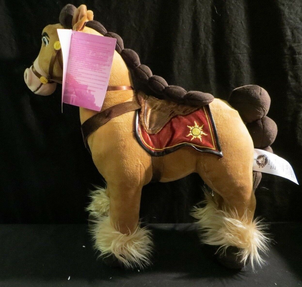 "Primary image for Disney Store Authentic USA Tangled the Series Fidella 15"" plush Stuffed Horse"