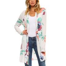 Women BohoLong Sleeve Wrap Kimono Cardigans Floral Print Casual Coverup ... - $46.00