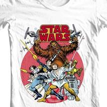 Star Wars retro design t-shirt original comic book 1970's cotton graphic tee image 1