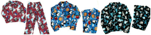 Boy's 2-piece Pajamas Set Button-down Top Elastic Waist Pants Sports Motorcycle