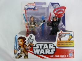 Star Wars  Galactic Heroes  Rey Resistance Outfit & Kylo Ren  Figures - $10.40