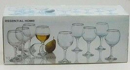 Essential Home 10 Piece Imperial Platinum Band Goblet Wine Glass Set - $49.50