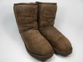 UGG Australia Classic Short Sheepskin Brown Boots Size 7 M (B) EU 38 Model 5825