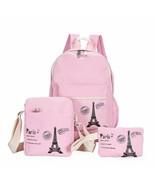Women Backpack Fresh Canvas 3PCS Set Teenager Laptop Purse Girls Kids Sc... - $42.50