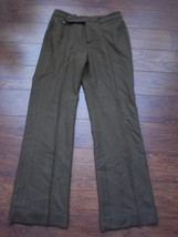 Lauren Ralph Lauren sz 6 100% wool dress pants trousers brown plaids - $21.99