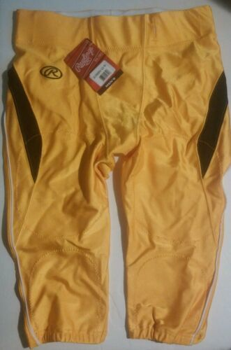 Primary image for Rawlings Football Pants Yellow Mens Size Large Adult
