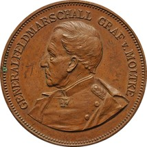 1895's Antique Medal Germany Imperial General Feldmarschall Graf v. Mölt... - $179.00