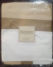 "NWT  Restoration Hardware ""Italian Banded "" Flax Standard Pillow Sham  - $25.69"