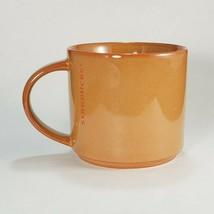 Starbucks Coffee 2013 Burnt Orange Pumpkin Etched Logo Stackable Mug Cup... - $23.71