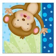 Baby Boy Monkey Dessert Cake Napkins 16 Count Shower and Birthday Party ... - $3.91