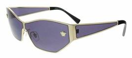 Versace Woman's Sunglasses VE2205 12521A 67 Pale Gold / Violet Lens - $405.90
