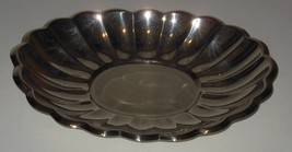 Reed & Barton Silverplate Bowl Scalloped Holiday Serving Dish Vintage - $14.84