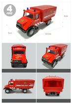 Fire Fighting Department Die-Cast Car Helicopter Tow Ladder Truck Vehicle Toy image 5