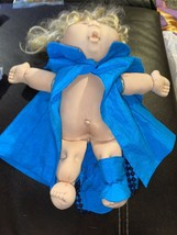 Vintage Cabbage Patch Kid clothes Outfit Handmade By Pro Blue Cape & Booties - $4.99