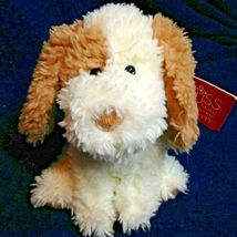 Russ Mylo Puppy Dog Plush Stuffed Shaggy Animal Toy Tan Cream Corduroy P... - $24.99