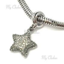 Swarovski European Hang Bracelet Charm Stainless Steel BeCharmed Pave Crystal image 9