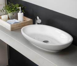 Victoria & Albert VB-CAB-55 Cabrits Bathroom Vessel Sink in Stone Grey - $330.66