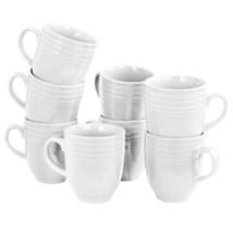 MEGA-90739.01 Plaza Cafe 15 oz Mug Set in White, Set of 8 - $38.44