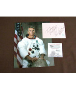 GENE CERNAN APOLLO 17 NASA LAST MAN ON MOON SIGNED AUTO CUT WITH PHOTO TMA - $197.99