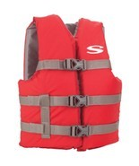 Stearns Classic Youth Life Jacket - 50-90lbs - Red/Grey - $33.44