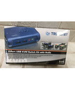 TRENDnet 2-Port USB KVM Switch and Cable Kit with Audio, TK-209K in box - $27.67