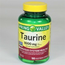 Spring Valley Taurine 1,000 mg Nervous System Health, 100 Capsules (Exp: 8/2021) - $9.50