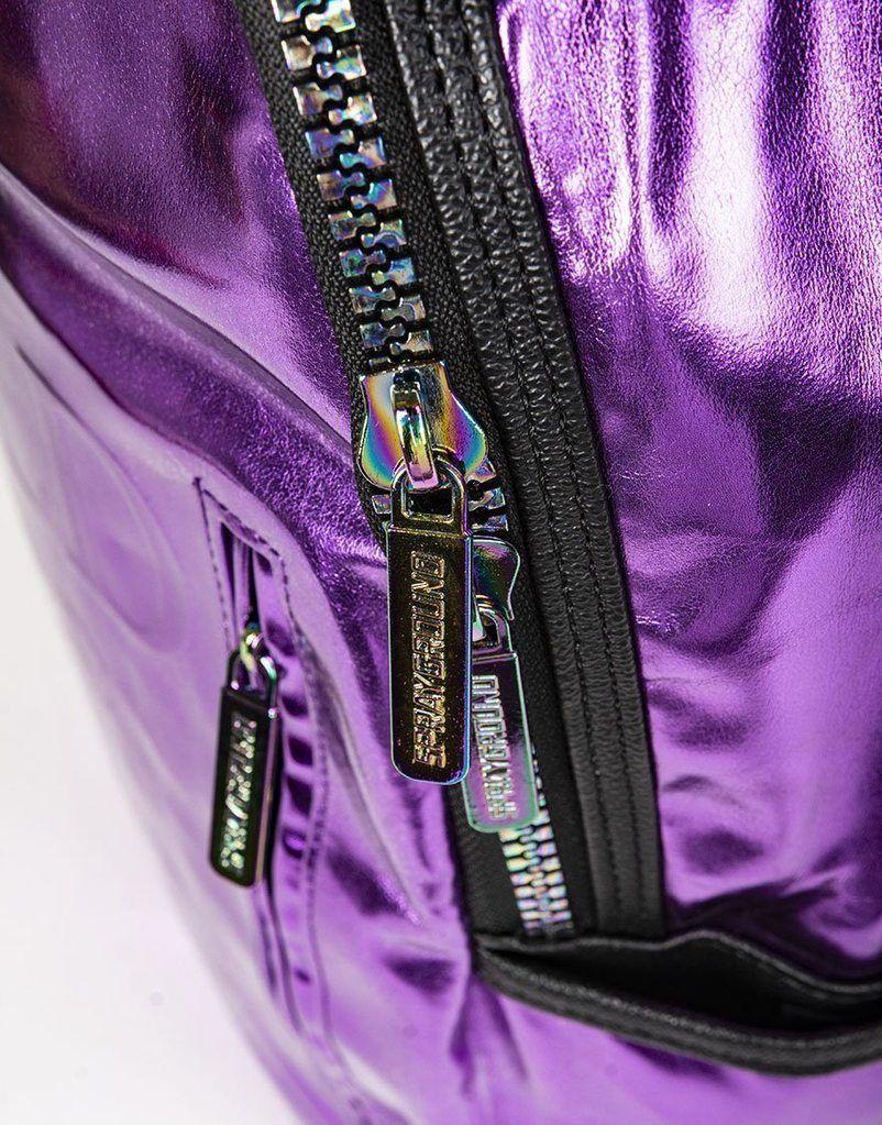 Sprayground Purple Fine Gold Brick Money Urban School Book Bag Backpack 910B1748 image 8